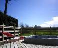 terrasse  chalet jacuzzi