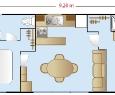 Plan cottage 2 ch / 2sdb