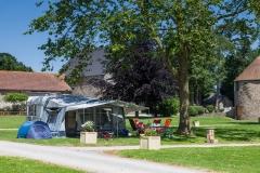 Comfort pitch in Normandy - Castels Château de Lez-Eaux