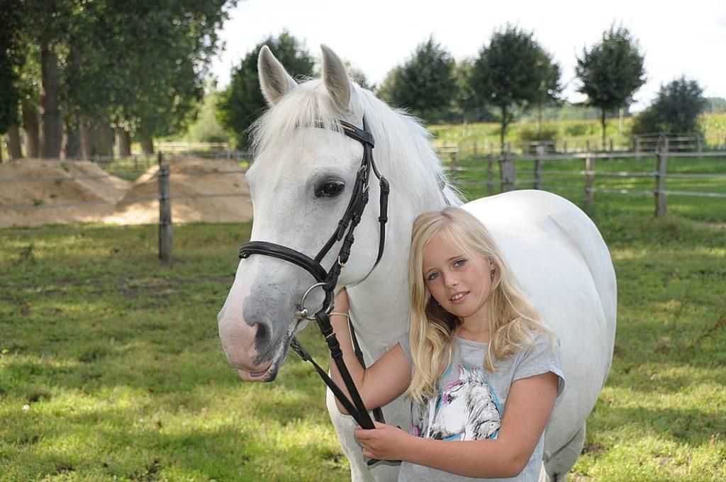 petite fille et poney