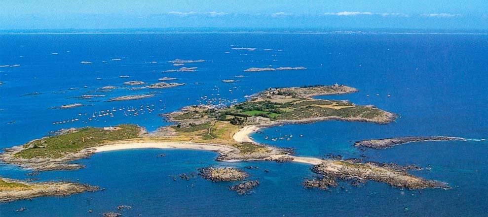 archipel chausey vu du ciel