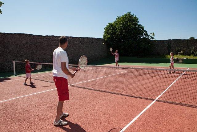tennis camping normandie