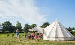 L'emplacement Premium et son matériel de camping sur la côte normande