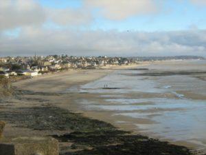 plage de saint pair sur mer Normandie