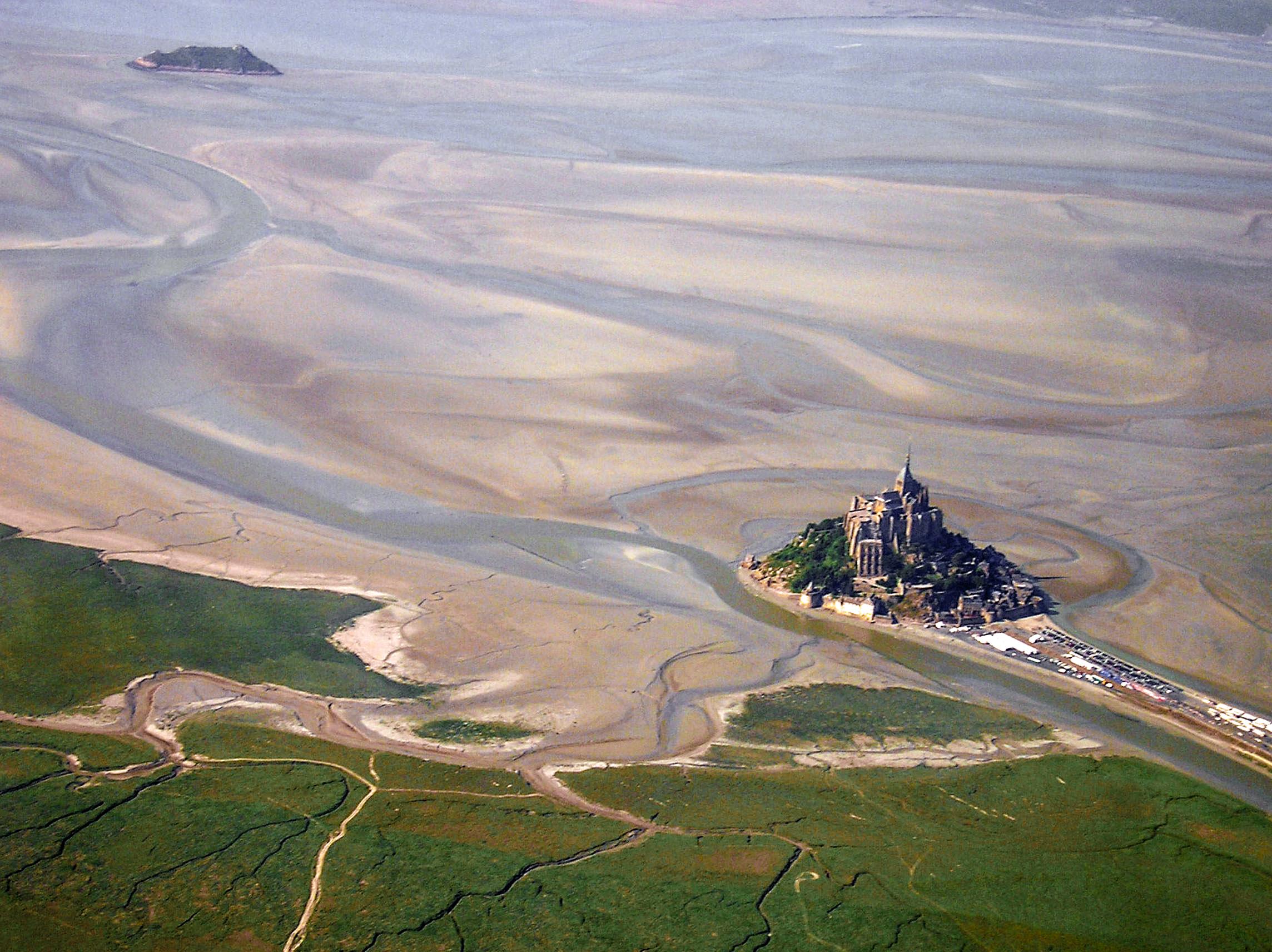 De baai van Mont Saint Michel oversteken
