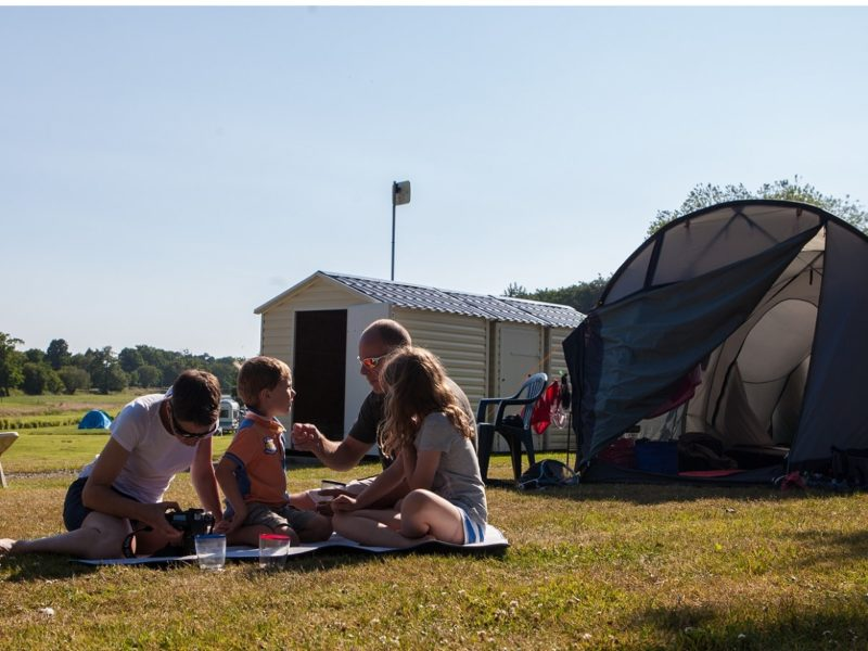 Premium pitch with camping facilities on the Normandy coast
