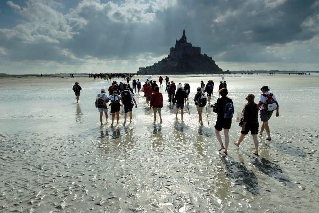 Oversteken van de baai van Mont Saint Michel Guided