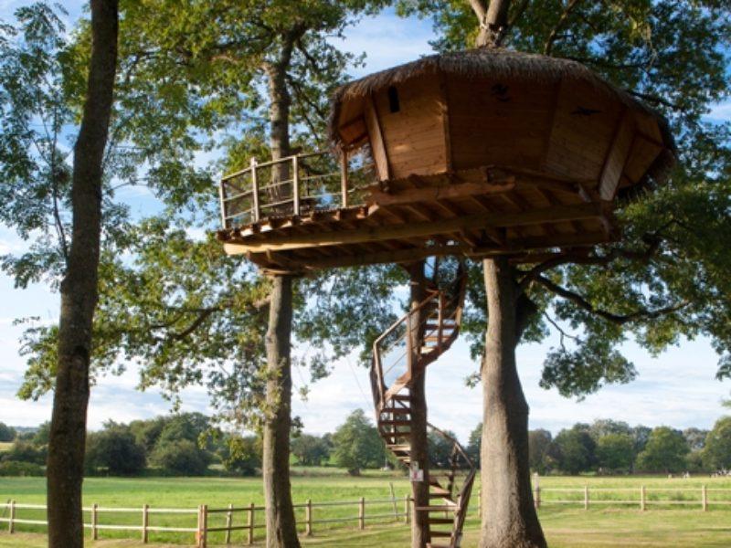 Boomhut Dam'oiseaux: origineel verblijf in de bomen voor 2 pers. of gezin