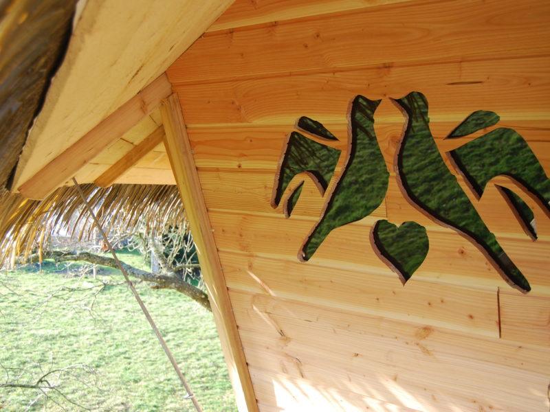 Das Baumhaus Frau Vogel: orignale Unterkunft im Bäumen für 2 Personen oder mit Familie