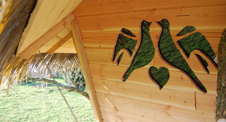 Cabane Dam'Oiseaux - couple cabane dans les arbres