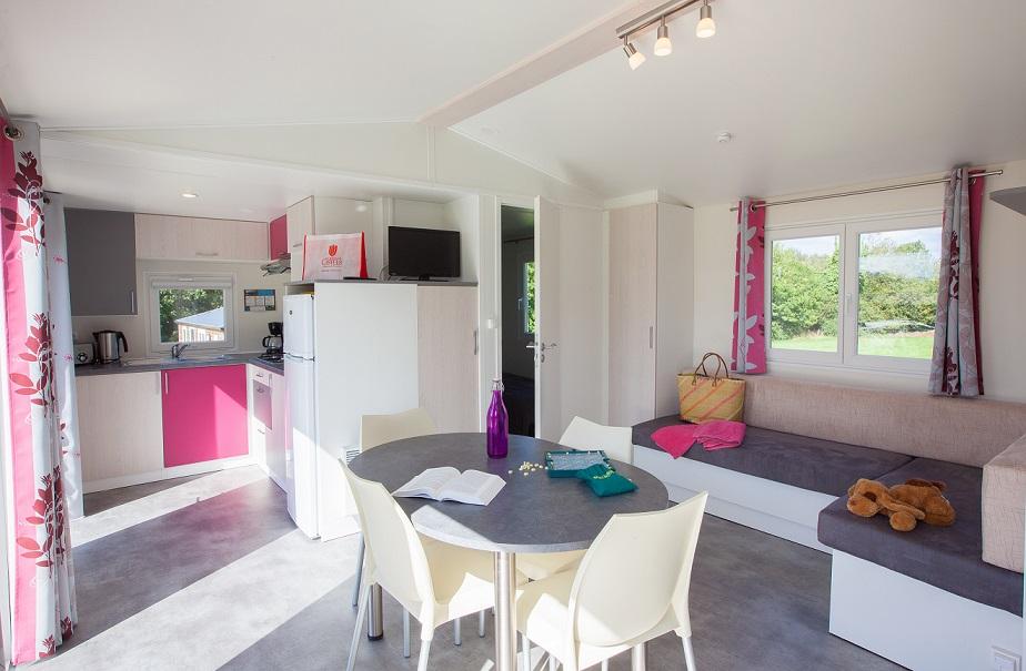 Mobile home Premium 2 chambres Camping 5 étoiles normandie (1)