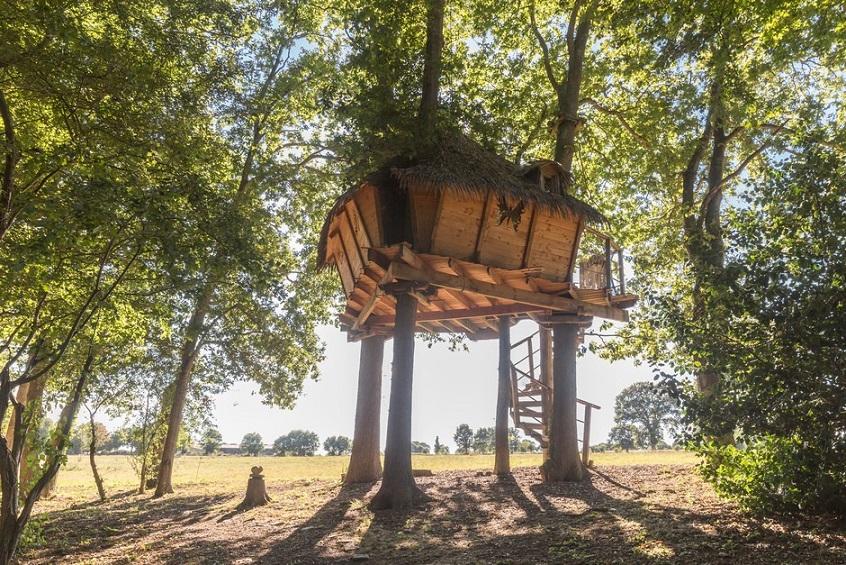 Cabane dans les arbres - séjour insolite