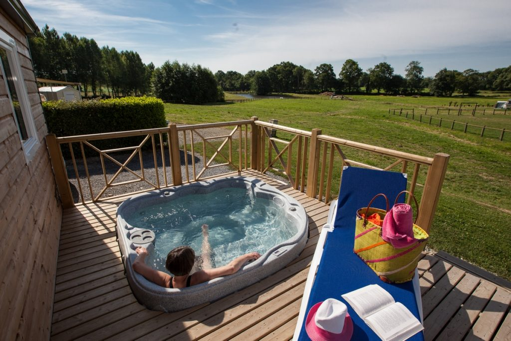 Private spa on your accommodation in Normandy