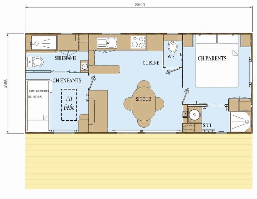 plan location neuve vacances normandie 2 suites
