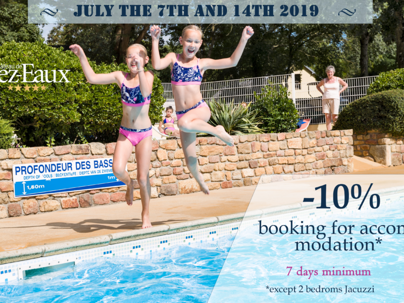 Save up 10% in july on your booking