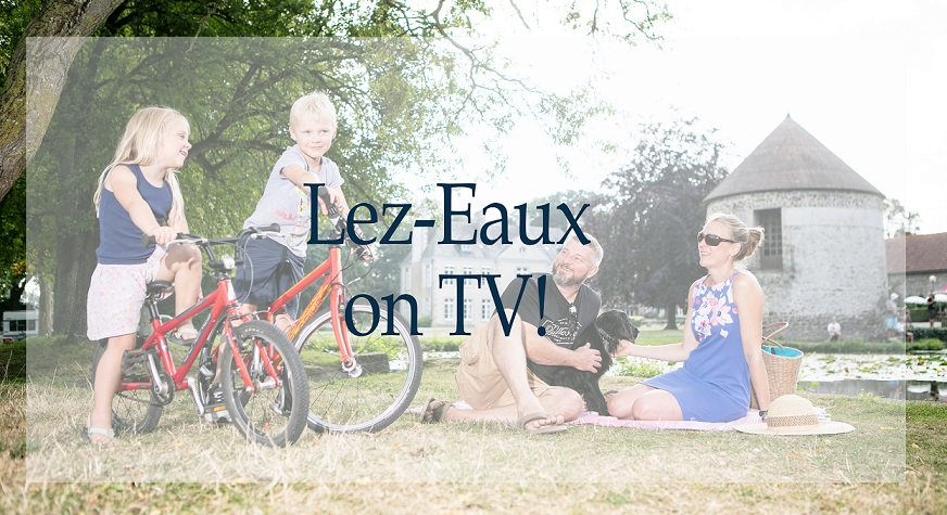 "The Château de Lez-Eaux on the TV show « the dual life of architectural heritage"" for the 2019 European Heritage days on the France2 channel."
