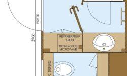 Emplacement Premium Suite avec sanitaires et cuisine privés, Manche