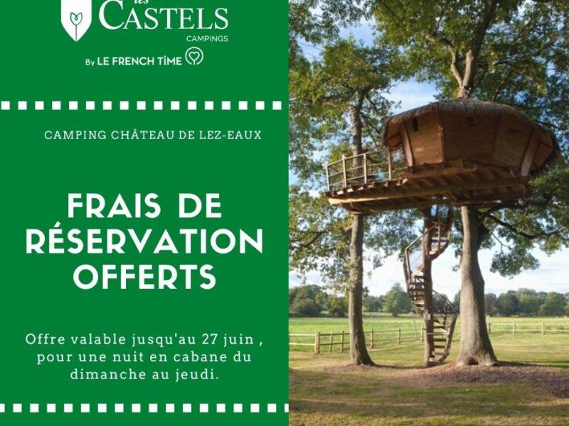 Frais de réservation offerts pour votre séjour en Cabane dans les arbres en Normandie.
