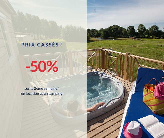 Promo -50% sur la 2ème semaine en location ou en camping à Lez Eaux ?