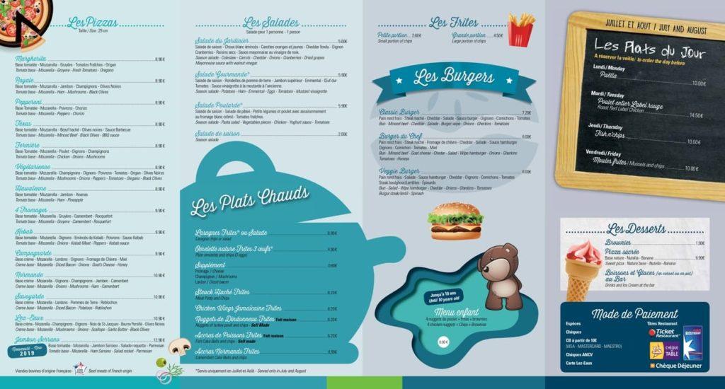 carte plats cuisinés à emporter camping lez eaux