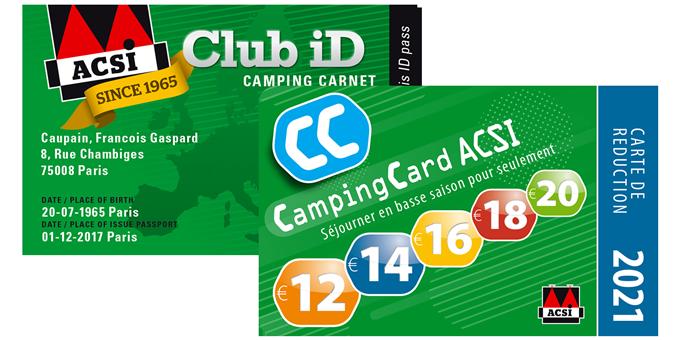 card ACSI camping 2021