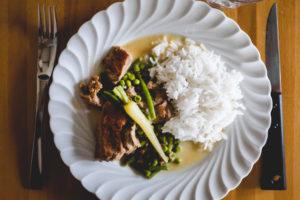 assiette veau riz