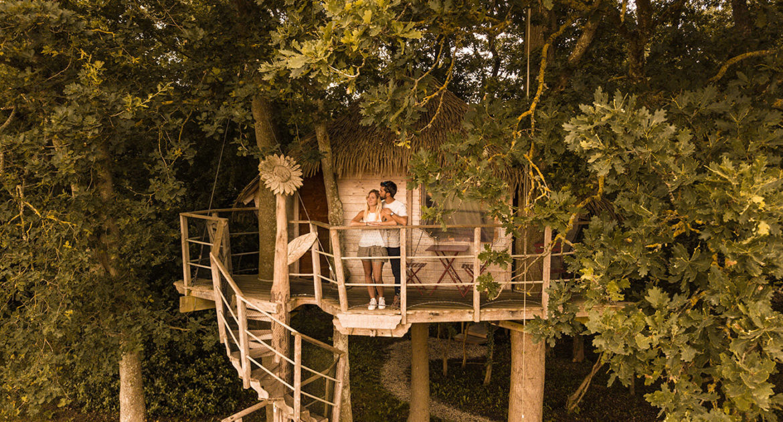 La cabane Butterfly, une nuit dans les arbres, petit-déjeuner livré au pied de l'arbre - nuit romantique arbres nomandie