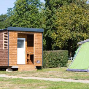 emplacement de camping avec sanitaires privés en normandie