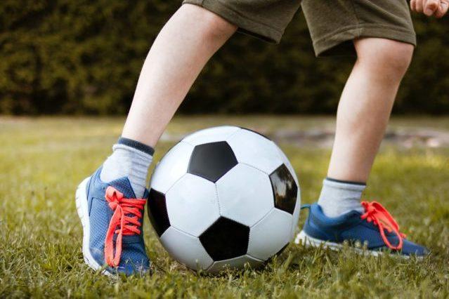 jambe enfant football