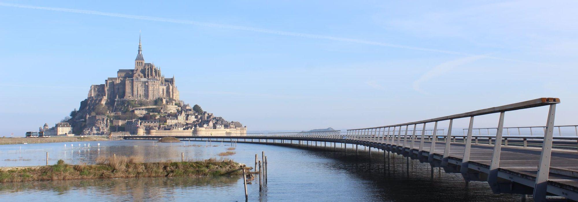 De baai van de Mont Saint-Michel
